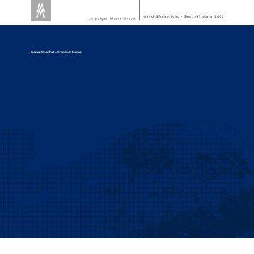 Geschäftsbericht - Geschäftsjahr 2002 - Leipziger Buchmesse