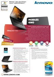 Y560 - Technische Daten - Lenovo