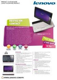 Restez en contact Restez en contact - Lenovo