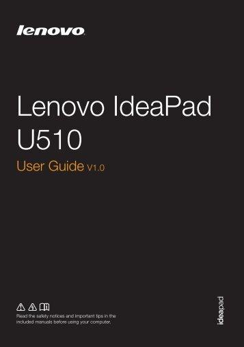 U510 User Guide - Lenovo