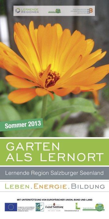 Garten als lernort - Regionalverband Salzburger Seenland