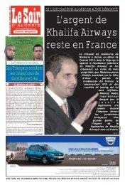 Lire le journal en PDF - Le Soir d'Algérie