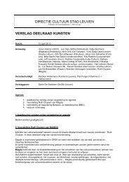 2013-04-15 Verslag deelraad kunsten - Stad Leuven