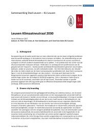 Projectvoorstel Leuven Klimaatneutraal 2030 - Stad Leuven