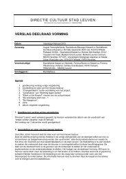 2013-02-04 Verslag deelraad cultuur vorming [ PDF ... - Stad Leuven