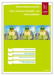 Infobrochure voor nieuwe handelszaken [ PDF, 797 ... - Stad Leuven
