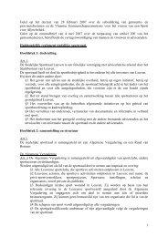 Huishoudelijk reglement gemeentelijke sportraad ... - Stad Leuven