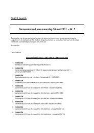 Gemeenteraad van maandag 30 mei 2011 - Nr. 5 - Stad Leuven