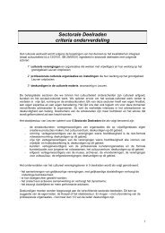 Sectorale deelraden - criteria onderverdeling [ PDF ... - Stad Leuven