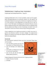 Erste-Hilfe kompakt Notfallstichwort: Vergiftung (med. Intoxikation)