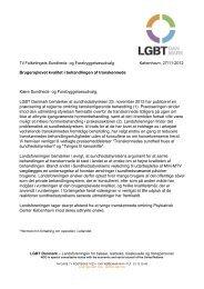 Til Folketingets Sundheds - Landsforeningen for bøsser og lesbiske