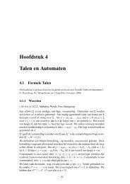Hoofdstuk 4 Talen en Automaten - Liacs