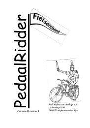 PedaalRidder, oktober 2006 - Liacs