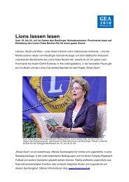 Lions lassen lesen - Reutlinger General-Anzeiger