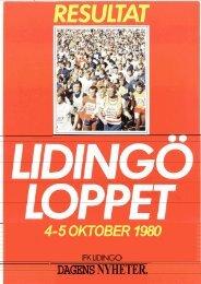 4-5 OKTOBER 1980 - Lidingöloppet