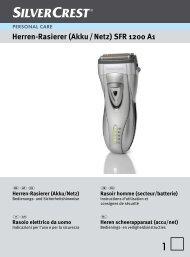 Herren-Rasierer (Akku / Netz) SFR 1200 A1 - Lidl Service Website