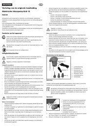 NL Vertaling van de originele handleiding Elektrische blaaspomp ...