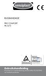 Gebruikshandleiding RUGBANDAGE - Lidl Service Website