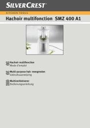 Hachoir multifonction SMZ 400 A1 - Lidl Service Website