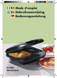 Sandwich Maker LB2 - Lidl Service Website