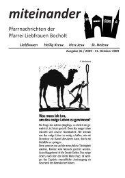 Pfarrnachrichten miteinander Nr. 36 - Jahr 2009 - Katholische ...