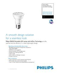 A smooth design solution for a seamless look - Philips Lighting