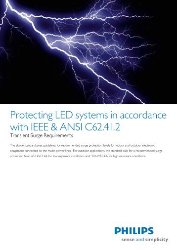 Protecting LED systems in accordance with IEEE ... - Philips Lighting