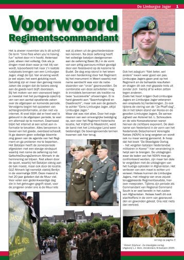 Regimentscommandant - Limburgse Jagers