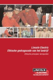 Lincoln Electric Code of Corporate Conduct and Ethics - Dutch