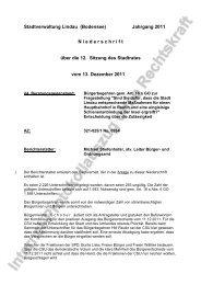 4. Bürgerbegehren gem. Art. 18 a GO zur Fragestellung - Lindau