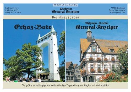 Bezirksausgaben - Reutlinger General-Anzeiger