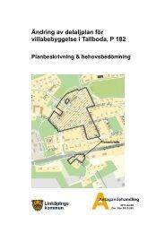 Antagande - planbeskrivning (PDF, 1179 kB) - Linköpings kommun