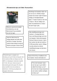Klimatsmarta tips och fakta- Konsumtion