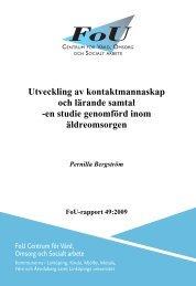 Utveckling av kontaktmannaskap och lärande samtal - Linköpings ...
