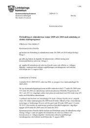 Förändring av nämndernas ramar 2009 och 2010 med anledning av ...