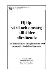 Hjälp, vård och omsorg till äldre närstående - Linköpings kommun