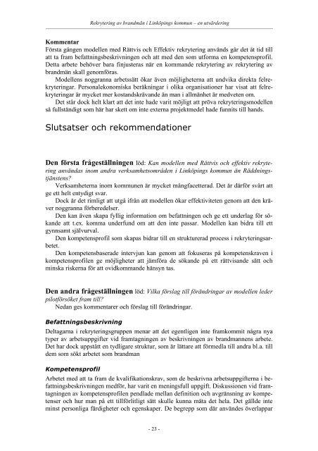 Rättvis och effektiv rekrytering - Linköpings kommun