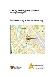 Antagande - planbeskrivning - Linköpings kommun