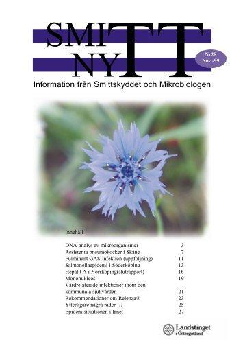 SmittNytt nr 28 nov 1999.pdf - Landstinget i Östergötland