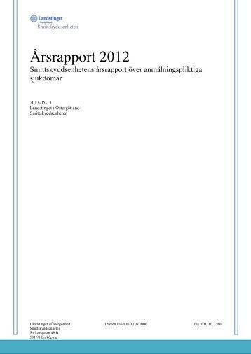 Årsrapport 2012 - Landstinget i Östergötland
