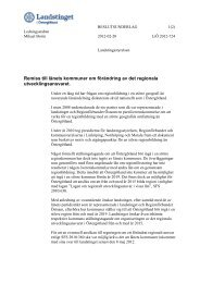 3.8 Remiss till länets kommuner om förändring av det regionala ...