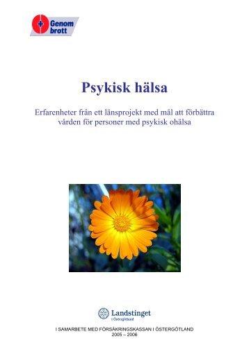 Psykisk hälsa - Landstinget i Östergötland