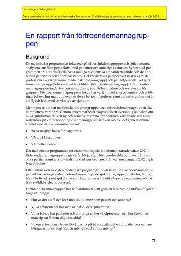 Endokrinologiska sjukdomar - Landstinget i Östergötland