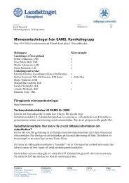 Minnesanteckningar från SAMS, Kemikaliegrupp - Landstinget i ...