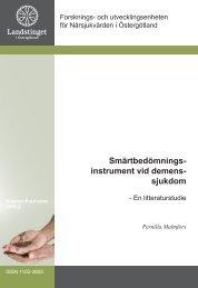 Smärtbedömningsinstrument vid demenssjukdom - Landstinget i ...