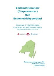 Endometriecancer (corpuscancer) och endometriehyperplasi i ...
