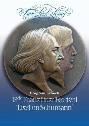 Programmaboek - Franz Liszt Kring