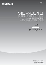 AMPLI-TUNER/LECTEUR DE DVD RECEIVER/DVD PLAYER - Ljudia