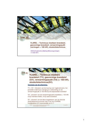 VLAREL – Technicus vloeibare brandstof (TV), gasvormige ... - Lne.be