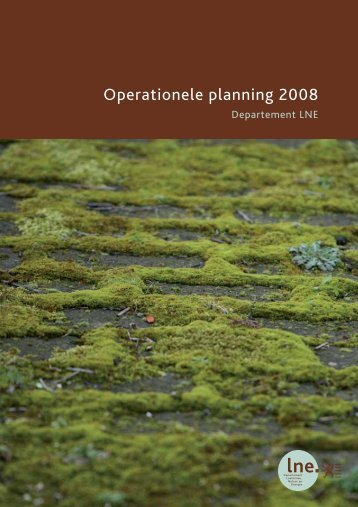 Operationele planning 2008 van het Departement ... - Lne.be